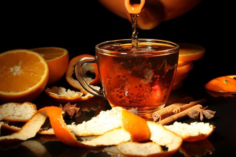 Чай с апельсином рецепт фото