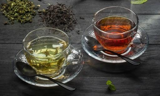 Отличие зелёного чая от чёрного свойства фото