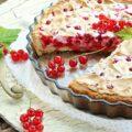 Пирог с ягодами на кефире приготовление фото