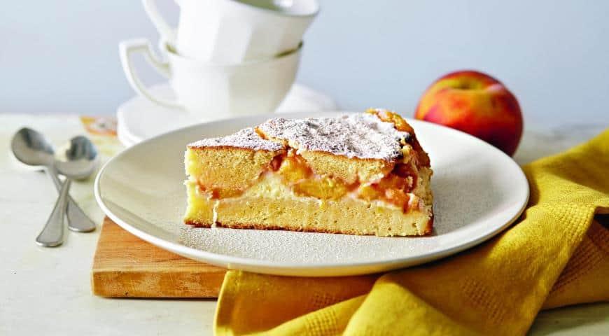 Пирог с персиками и творогом ингредиенты фото