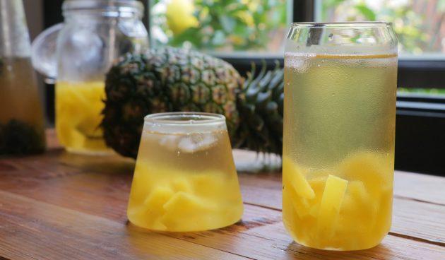 Чай с ананасом фото