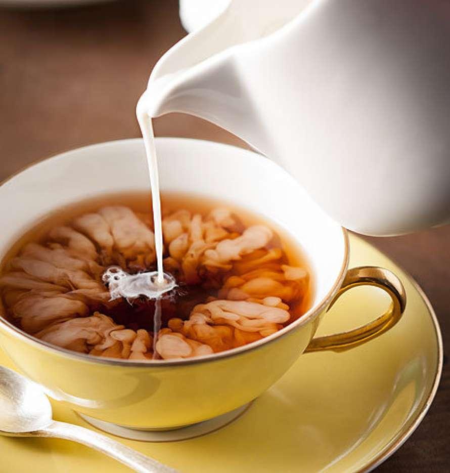 Чай с молоком приготовление фото