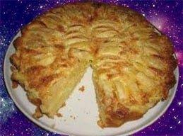 сливочный пирог с яблоками