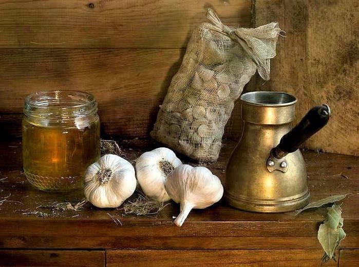 Кофе с медом и чесноком рецепт фото