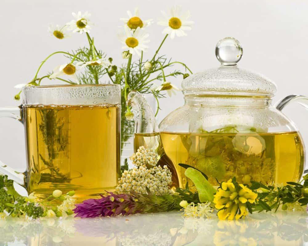Успокоительный чай с травами фото