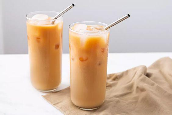 Холодный кофе с чаем