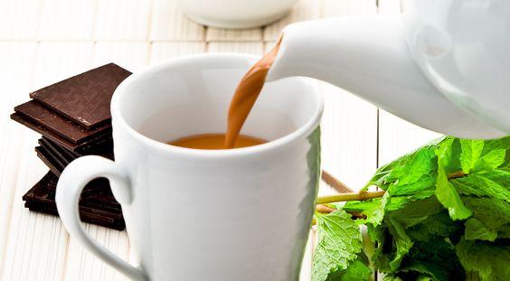 Кофе с мятой и шоколадом