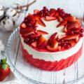 Творожный торт с клубникой ингредиенты фото