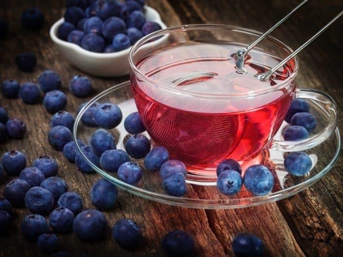 Чай с голубикой фото