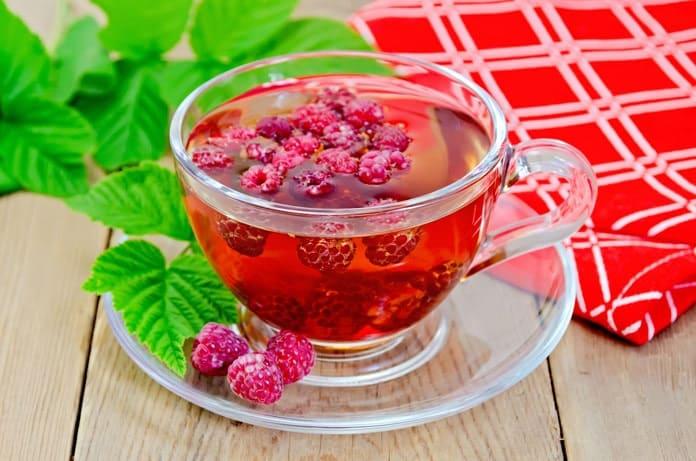 малиновый чай рецепт фото