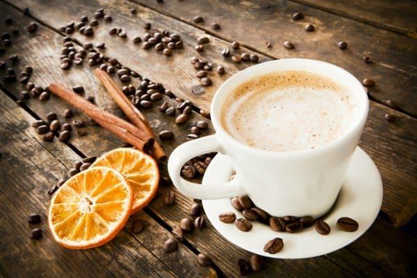 Кофе с корицей и апельсином фото