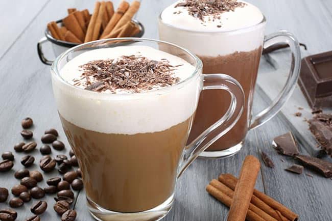 Кофе с шоколадом и корицей фото