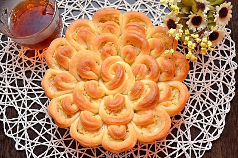 Сладкий пирог хризантема как приготовить фото