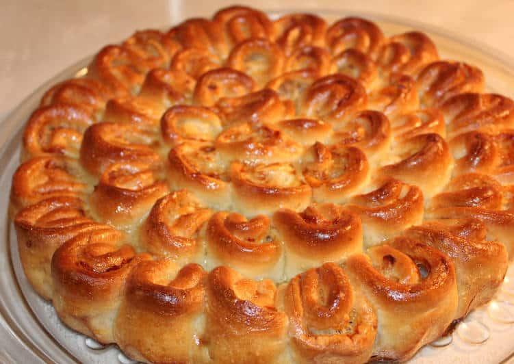 Сладкий пирог хризантема приготовление фото