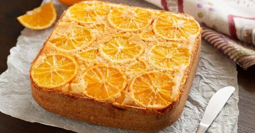 пирог с апельсином фото