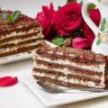 Торт из печенья и творога фото