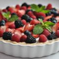 Творожно-ягодный пудинг рецепт фото