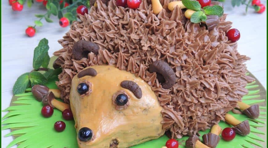 Тортик для детей Ежик фото