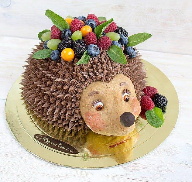 Тортик Ежик фото