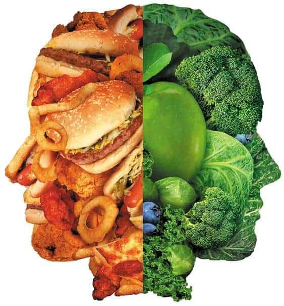 вредная пища или правильное питание