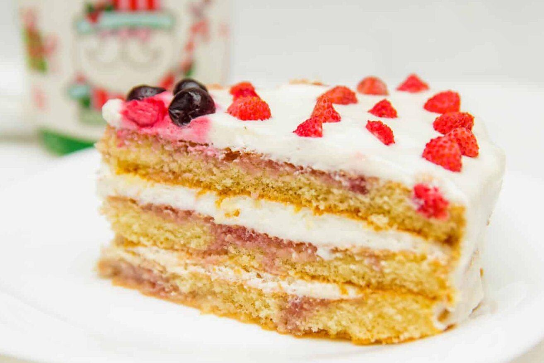 Бисквитный торт из готовых коржей фото