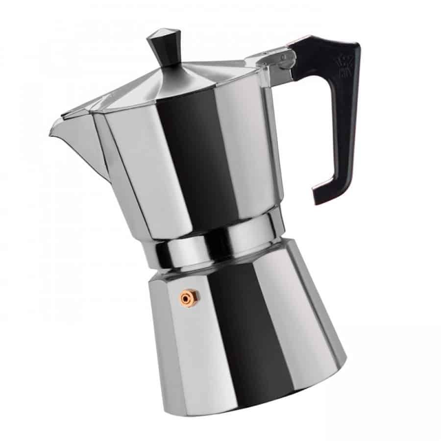 гейзерная кофеварка серебреная фото