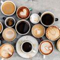 много чашек кофе фото