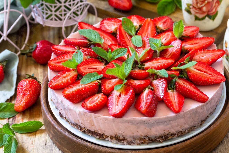 пп десерт из клубники фото
