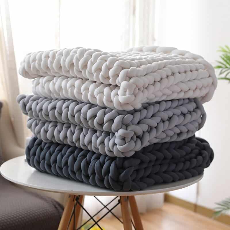Вязаные одеяла фото